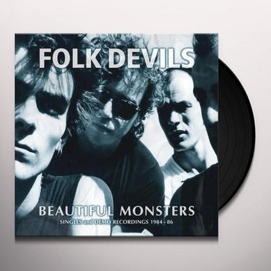 FOLK DEVILS BEAUTIFUL MONSTERS: SINGLES & DEMO RECORDINGS 1984 Vinyl Record