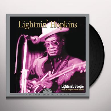 Lightnin Hopkins LIGHTNIN'S BOOGIE: LIVE AT THE RISING SUN CELEBRIT Vinyl Record