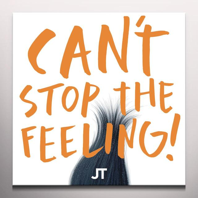 Justin Timberlake CAN'T STOP THE FEELING Vinyl Record - Colored Vinyl, Orange Vinyl