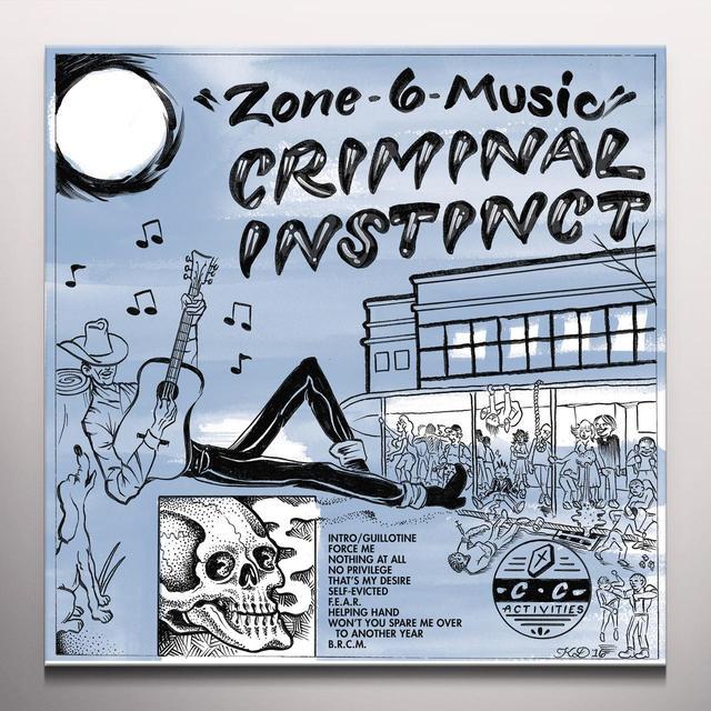Criminal Instinct ZONE 6 MUSIC Vinyl Record - Blue Vinyl, Digital Download Included