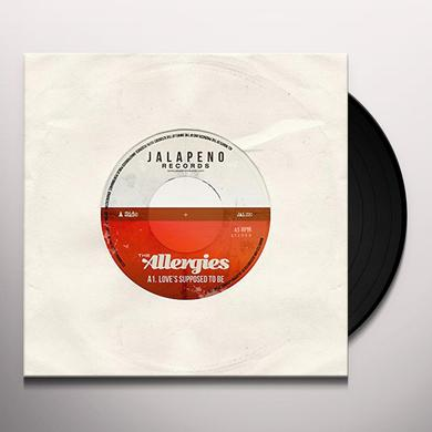 ALLERGIES LOVE'S SUPPOSED TO BE Vinyl Record - UK Import