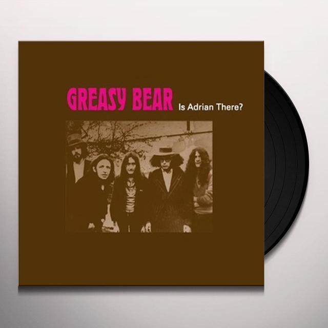 GREASY BEAR IS ADRIAN THERE? Vinyl Record - Limited Edition
