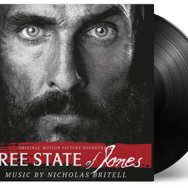 Nicholas Britell FREE STATE OF JONES / O.S.T. Vinyl Record - Limited Edition, 180 Gram Pressing, Red Vinyl