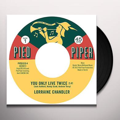 Lorraine Chandler / Pied Piper Players YOU ONLY LIVE TWICE / HOLD TO MY BABY Vinyl Record - UK Import