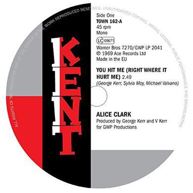 Alice Clark / Devonnes YOU HIT ME (RIGHT WHERE IT HURT ME) / I COULDN'T Vinyl Record