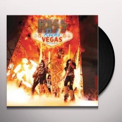 KISS ROCKS VEGAS (W/DVD) Vinyl Record - Gatefold Sleeve