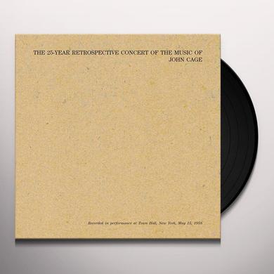 John Cage 25 YEAR RETROSPECTIVE CONCERT OF THE MUSIC OF JOHN Vinyl Record