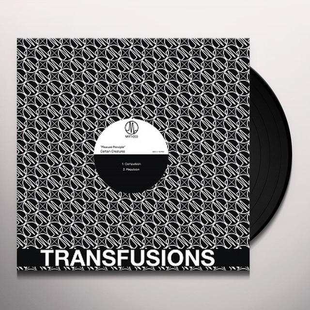 Certain Creatures PLEASURE PRINCIPLE Vinyl Record - Black Vinyl