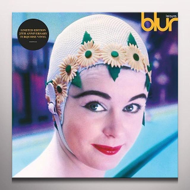 Blur LEISURE (TURQUOISE VINYL) Vinyl Record - Colored Vinyl, UK Import