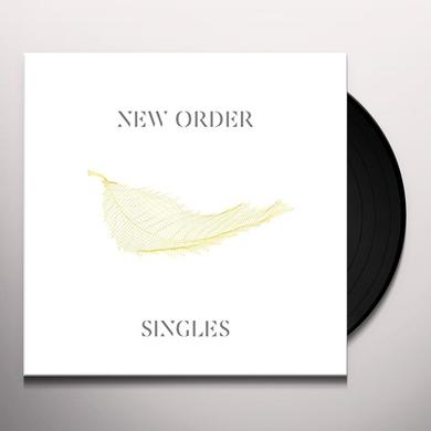 New Order SINGLES (2015 REMASTER) Vinyl Record - Remastered