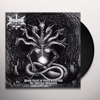 Hellvetron DEATH SCROLL OF SEVEN HELLS & IT'S INFERNAL Vinyl Record
