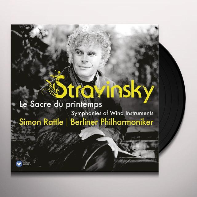 Stravinsky / Simon Rattle RITE OF THE SPRING Vinyl Record
