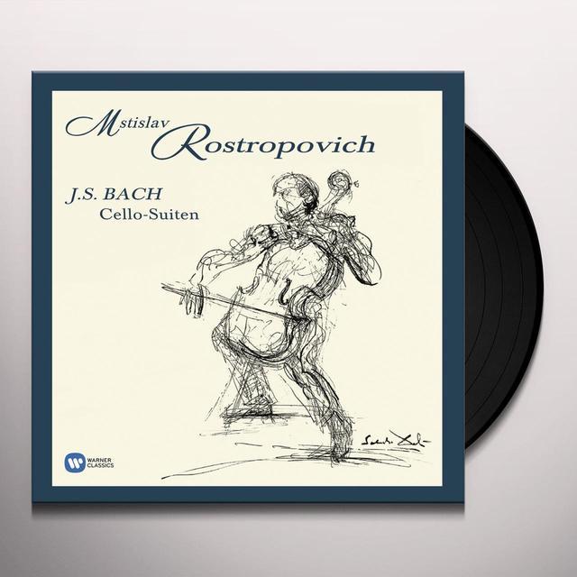 Bach / Mstislav Rostropovich CELLO SUITES Vinyl Record