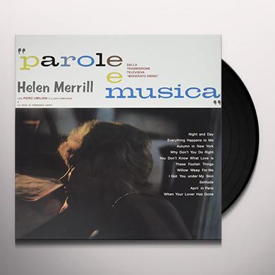 Helen Merrill PAROLE E MUSICA Vinyl Record - UK Import