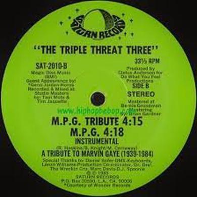 TRIPLE THREAT THREE M.P.G. RAP (MARVIN GAYE TRIBUTE) Vinyl Record