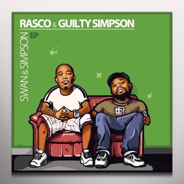 RASCO / GUILTY SIMPSON SWAN & SIMPSON (EP) Vinyl Record - Green Vinyl