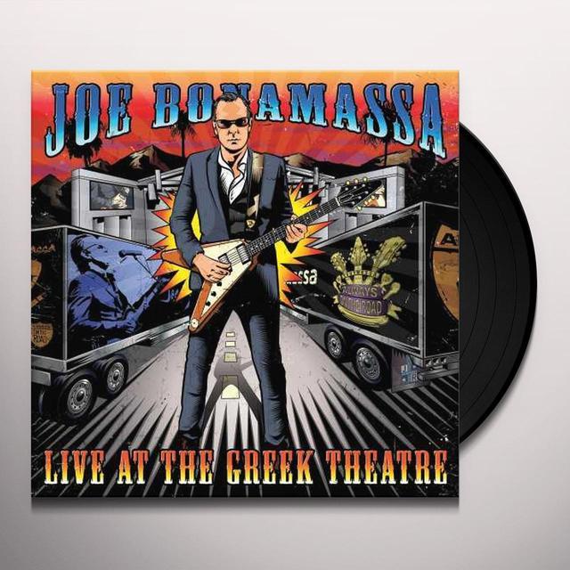 Joe Bonamassa LIVE AT THE GREEK THEATRE Vinyl Record - Gatefold Sleeve