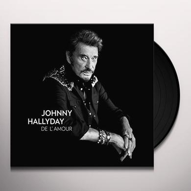 Johnny Hallyday DE L'AMOUR Vinyl Record