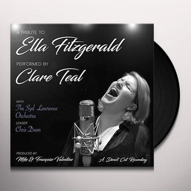 Clare Teal & The Syd Lawrence Orchestra TRIBUTE TO ELLA FITZGERALD Vinyl Record - 180 Gram Pressing