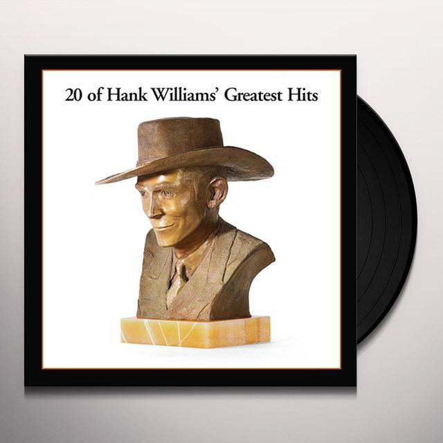 Hank Williams 20 GREATEST HITS Vinyl Record