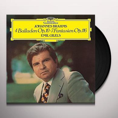Brahms / Emil Gilels 4 BALLADES 7 FANTASIAS Vinyl Record