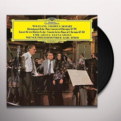 MOZART / GILELS / GILELS / BOHM / WIENER PHILHARMO PIANO CONCERTOS 10 & 27 Vinyl Record