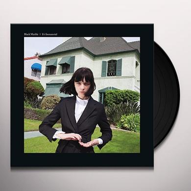 Black Marble IT'S IMMATERIAL: LIMITED Vinyl Record - UK Release