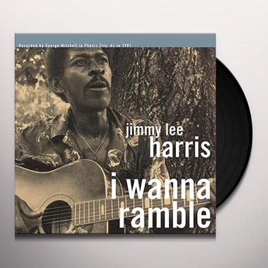 Jimmy Lee Harris I WANNA RAMBLE Vinyl Record