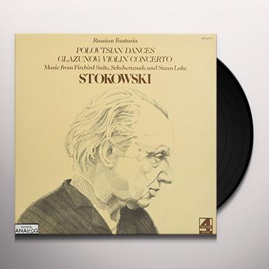 STOKOWSKI & LONDON SYMPHONY GLAZINOV: VIOLIN CONCERTO A MINOR + MUSIC FROM Vinyl Record