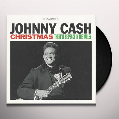 Johnny Cash CHRISTMAS: THERE'LL BE PEACE IN THE VALLEY Vinyl Record