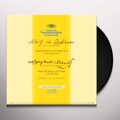 Johanna Martzy BEETHOVEN & MOZART SONATAS FOR PIANO & VIOLIN Vinyl Record