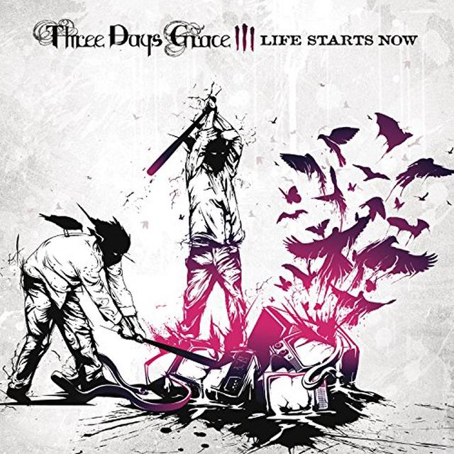 Three Days Grace LIFE STARTS NOW Vinyl Record