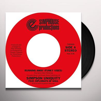 SIMPSON UNIQUITY RUNNING AWAY Vinyl Record
