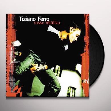 Tiziano Ferro ROSSO RELATIVO Vinyl Record - Italy Import
