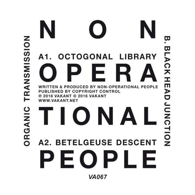NON-OPERATIONAL PEOPLE ORGANIC TRANSMISSION Vinyl Record