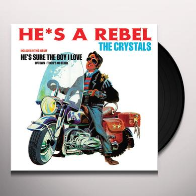 Crystals HE'S A REBEL Vinyl Record