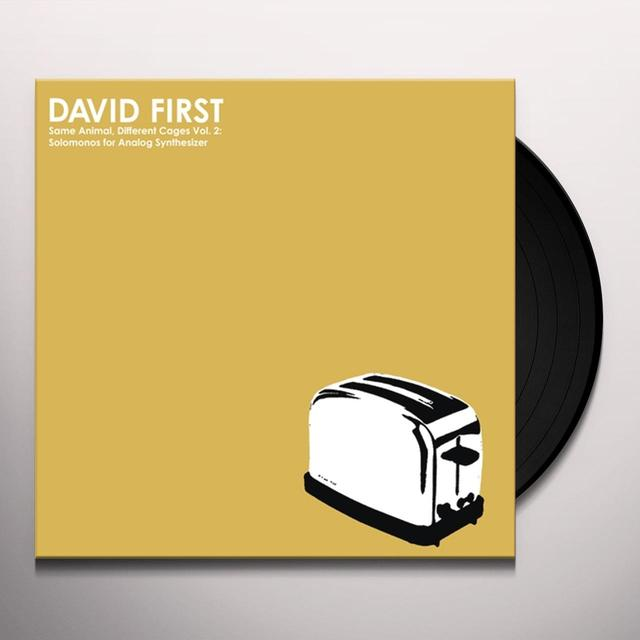 FIRST,DAVID VOL. 2 SAME ANIMAL DIFFERENT CAGES: SOLOMONOS FOR Vinyl Record