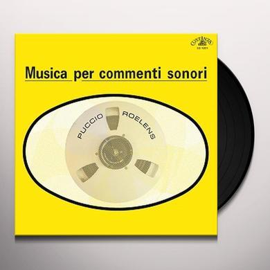 Puccio Roelens MUSICA PER COMMENTI SONORI Vinyl Record - w/CD, Italy Release