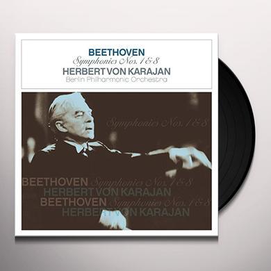 Ludwig Van Beethoven SYMPHONIES 1 & 8 Vinyl Record