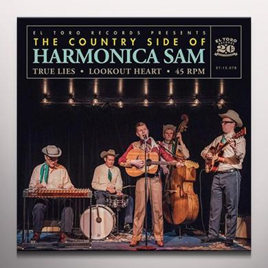 COUNTRY SIDE OF HARMONICA SAM TRUE LIES / LOOKOUT HEART Vinyl Record - Colored Vinyl, Purple Vinyl, Spain Import