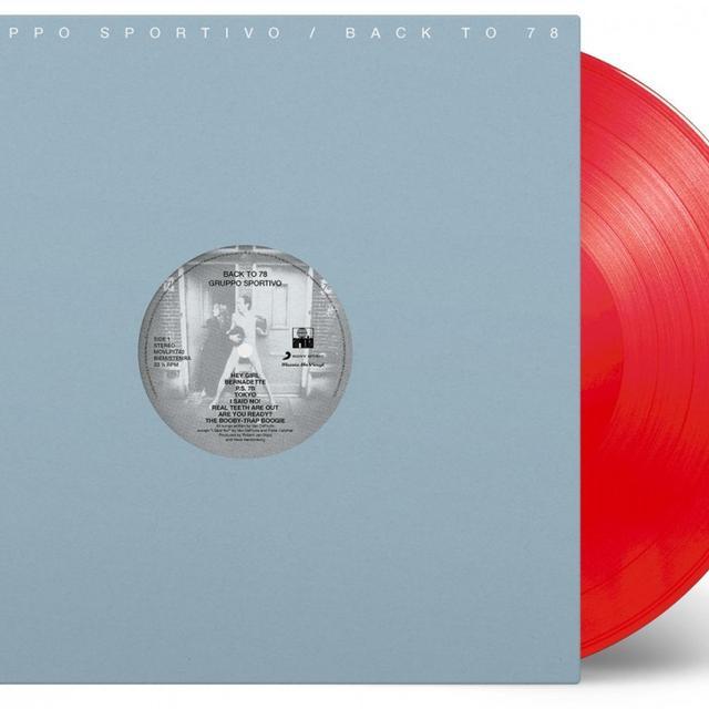 Gruppo Sportivo BACK TO 78 (BONUS TRACKS) Vinyl Record - Limited Edition, 180 Gram Pressing, Red Vinyl, Digital Download Included