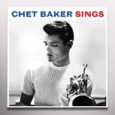 CHET BAKER SINGS (BLUE VINYL) Vinyl Record - Blue Vinyl, Colored Vinyl, 180 Gram Pressing