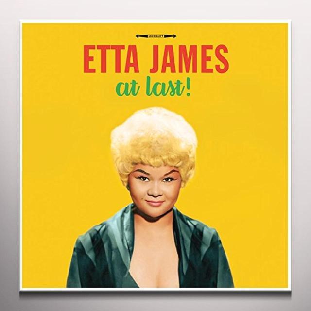 Etta James AT LAST (YELLOW VINYL) Vinyl Record - Colored Vinyl, 180 Gram Pressing, Yellow Vinyl, UK Import
