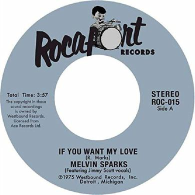 Melvin Sparks IF YOU WANT MY LOVE / GET DOWN WITH THE GET DOWN Vinyl Record