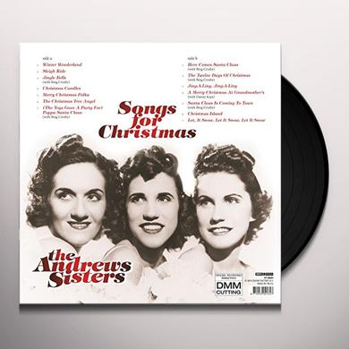 Andrew Sisters SONGS FOR CHRISTMAS Vinyl Record