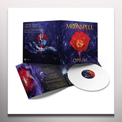 Moonspell OPIUM (WHITE VINYL) Vinyl Record - 10 Inch Single, Colored Vinyl, White Vinyl, UK Import