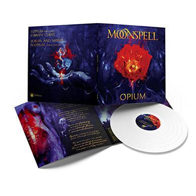 Moonspell OPIUM (WHITE VINYL) Vinyl Record - 10 Inch Single, Colored Vinyl, White Vinyl, UK Release