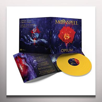 Moonspell OPIUM (MUSTARD YELLOW VINYL) Vinyl Record - 10 Inch Single, Colored Vinyl, Yellow Vinyl