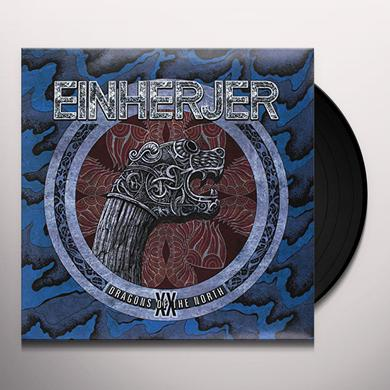 Einherjer DRAGONS OF THE NORTH (BLUE VINYL) Vinyl Record