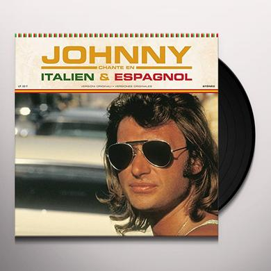 Johnny Hallyday JOHNNY CHANTE EN ITALIEN ET ESPAGNO Vinyl Record